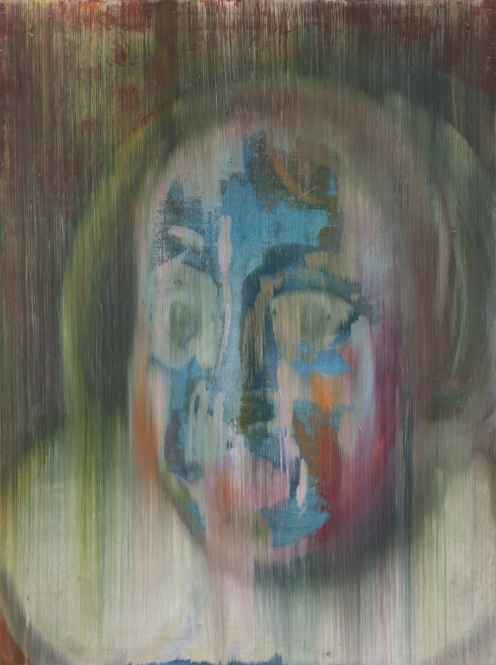 Multi-colored Close-up of Gertrude van Limborch (after Thomas de Keyser), 2013