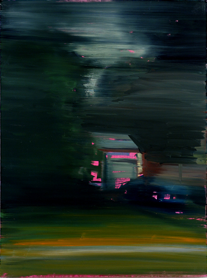 Pink garage, 2006 36 x 27 inches, oil on linen