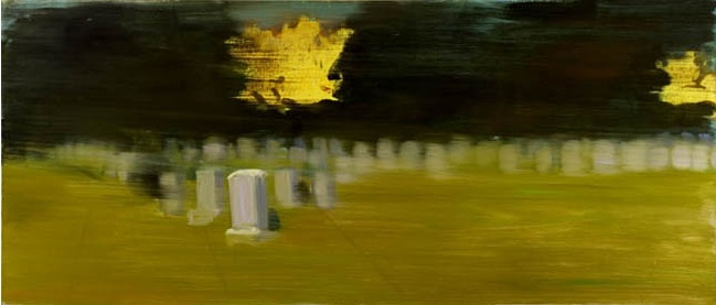 "'Yellow Splashes,' 36""x 84"", 2006"