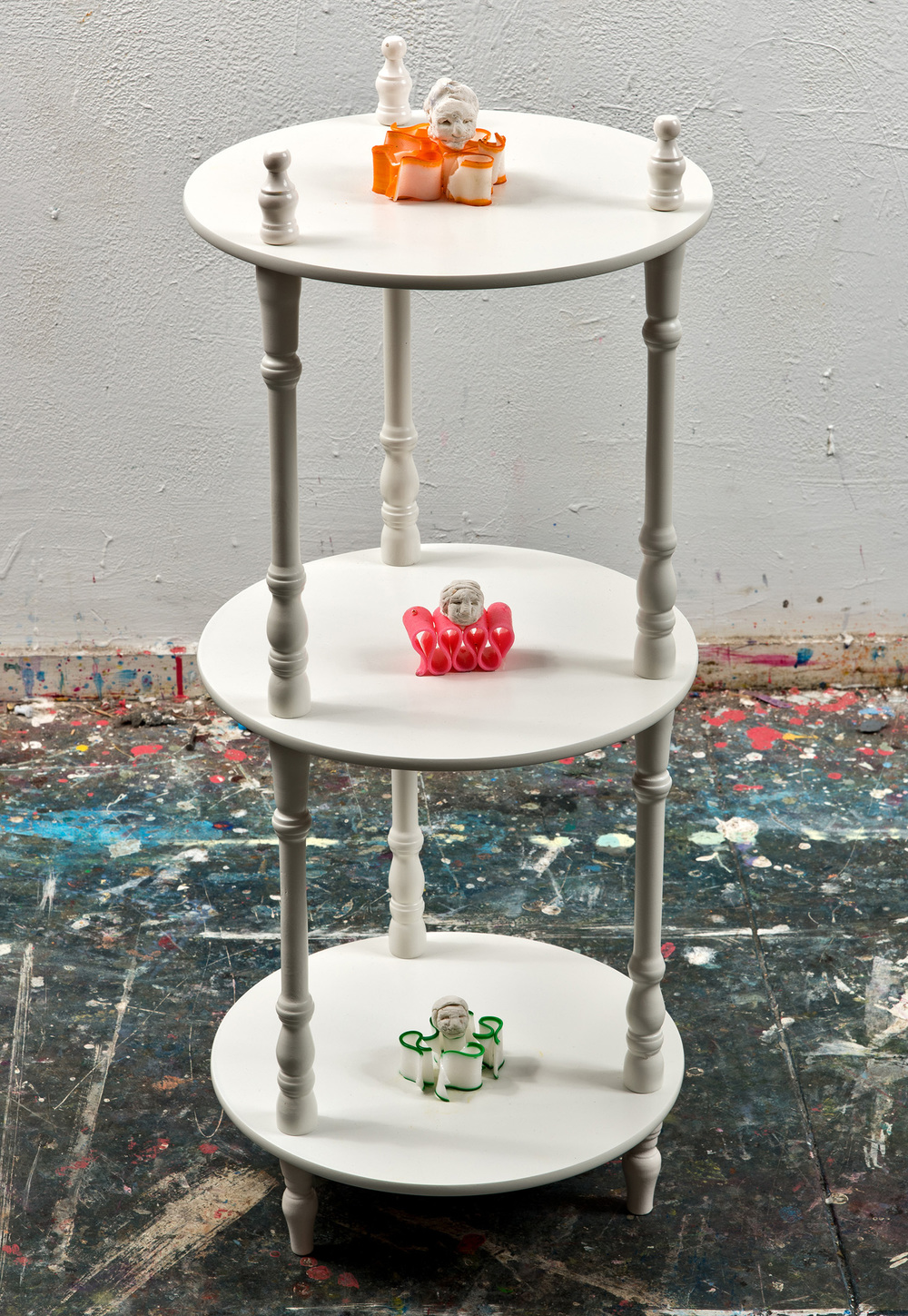 Table with Ribbon Candy