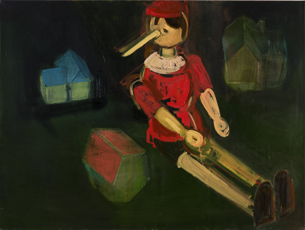 Seated Pinocchio with Houses, 2017