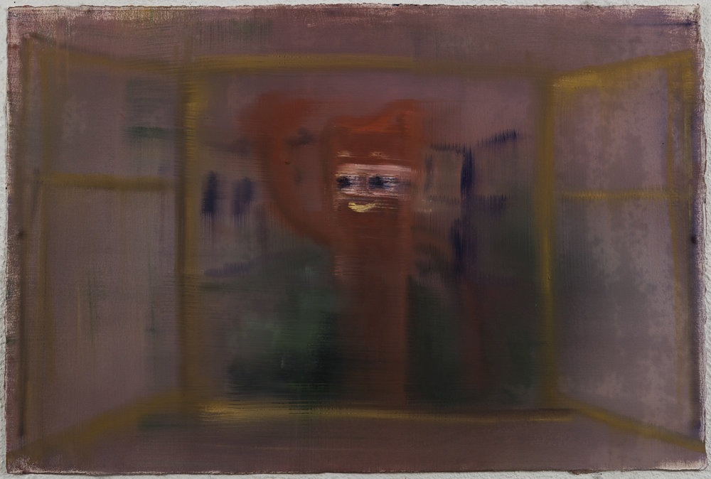 Red Gumby in the Window, 2016