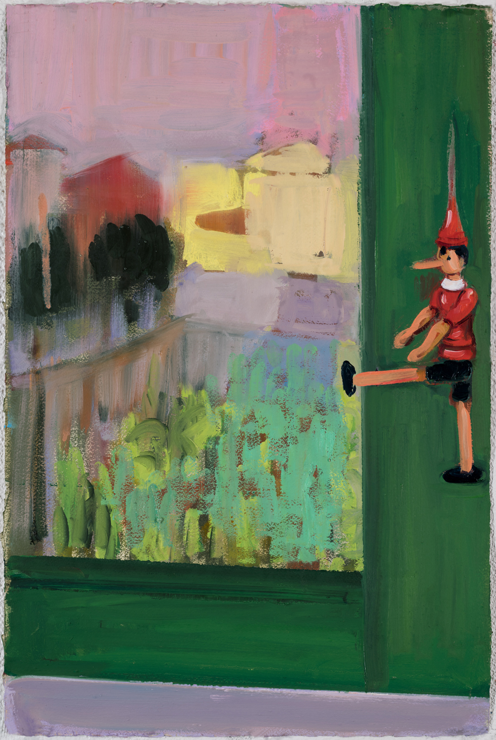 Window View - Hanging Pinocchio, 2017