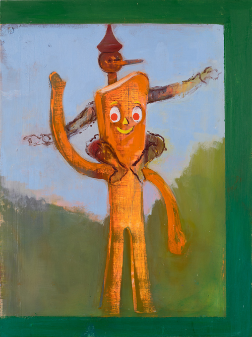 Window View - Pinocchio on Gumby's Shoulders, 2017