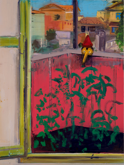Window View - Garden and Pinocchio, 2017
