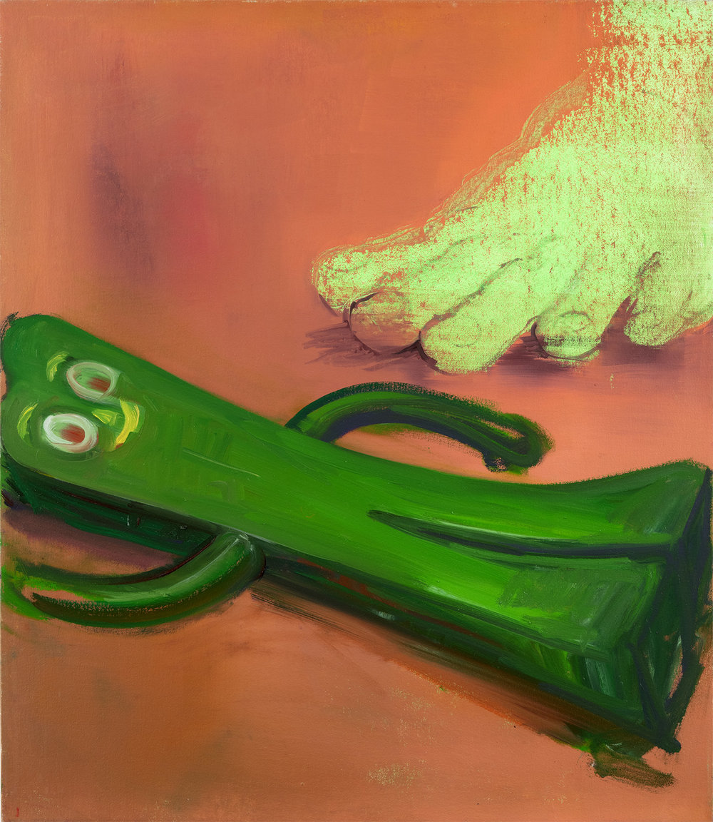 Green Foot with Gumby