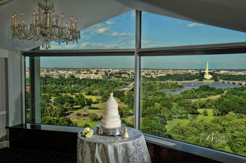 """A spectacular wall to wall vista overlooking the monuments on the Mall and seemingly everything else in the Washington area.""          - The Washington Post"