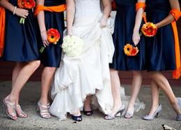 Navy & Orange Wedding