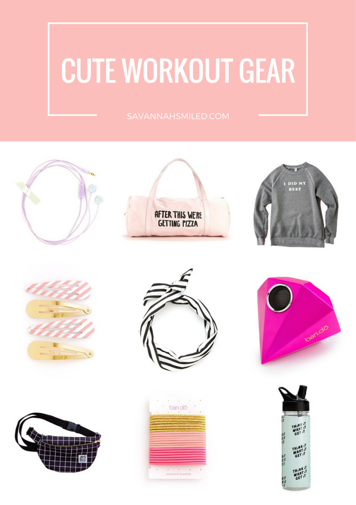 Earbuds | Pizza Duffle Bag | My Best Sweatshirt | Hair Clips | Hair Scarf | Speaker | Fanny Pack | Ponytail Holders | Motivational Water Bottle