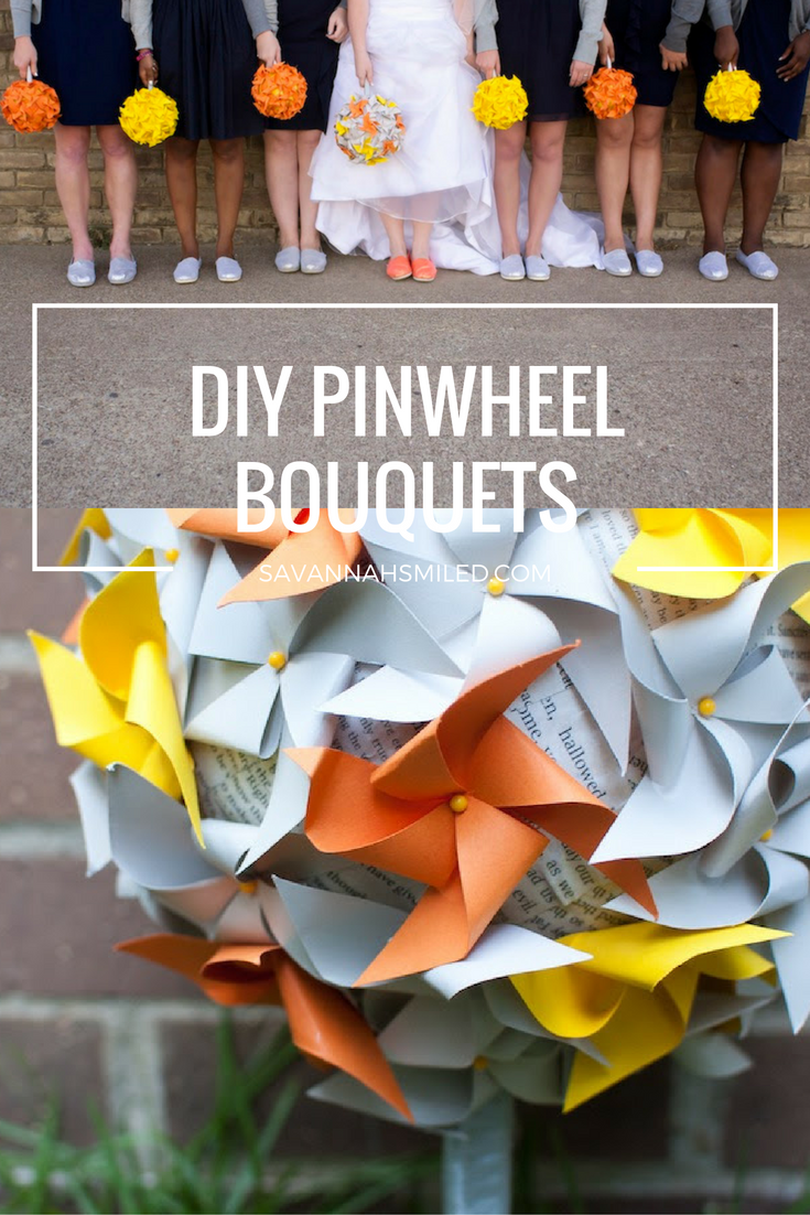 diy-pinwheel-wedding-bouquets