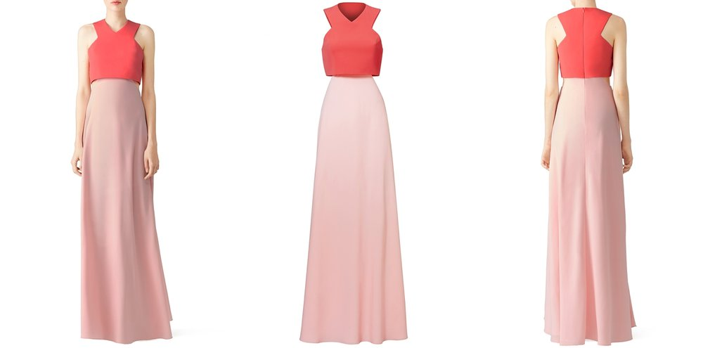 coral-pink-two-tone-prom-dress