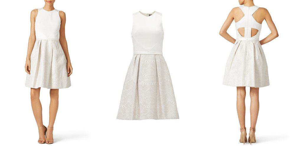 white-graduation-dress-rent-runway