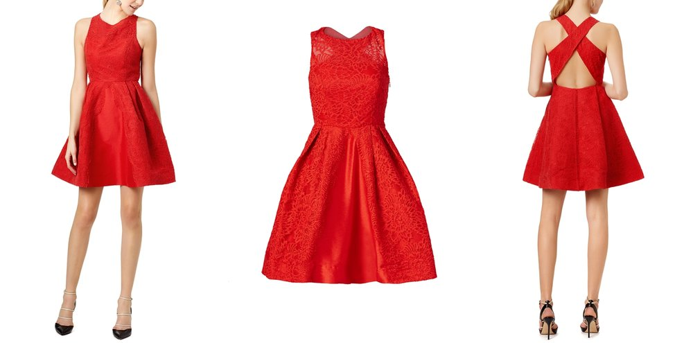 red-graduation-dress-rent-runway