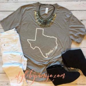 Sami Jo | Proverbs 3:27 Texas Tee: $26
