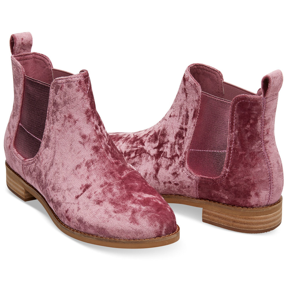 FADED ROSE VELVET WOMEN'S ELLA BOOTIES