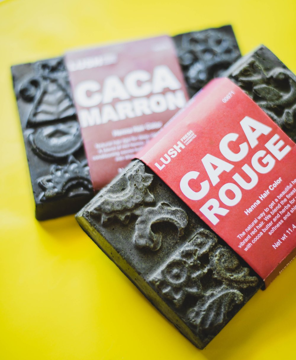 LUSH Henna Hair | Caca Rouge and Caca Marron