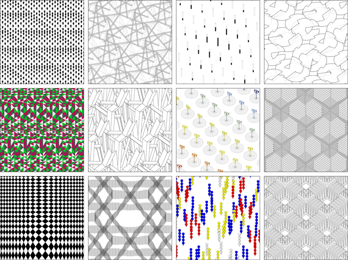 Image: Studies of continuous, homogeneous, and non-hierarchical Spatial Fields by Holes of Matter