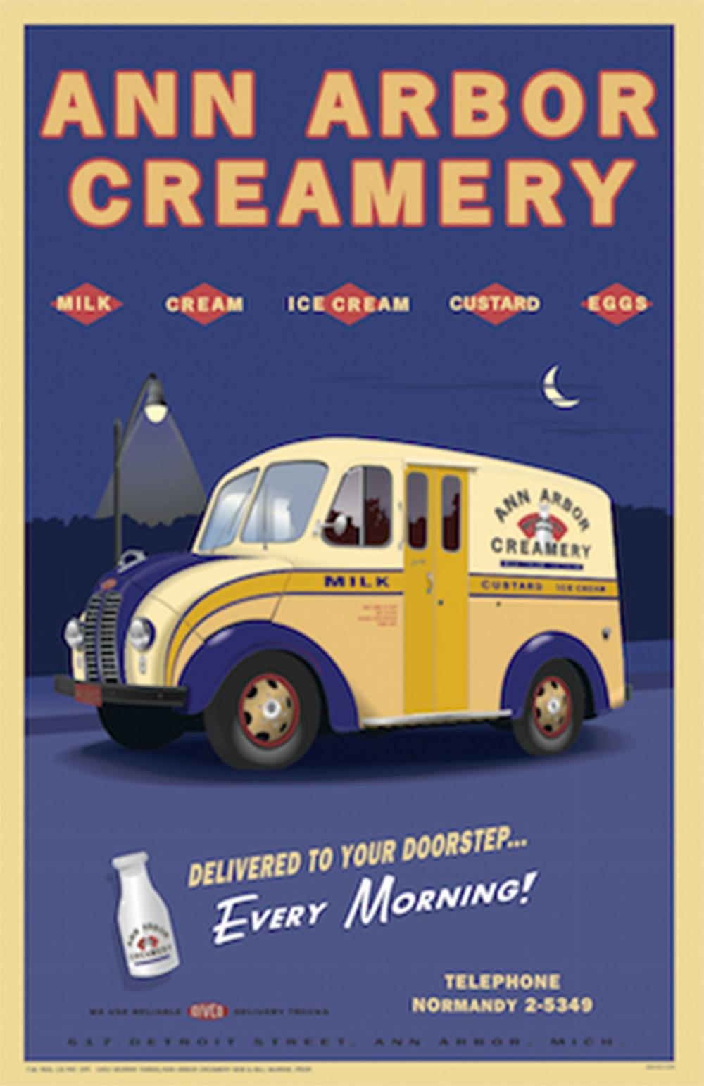 Ann Arbor Creamery Poster