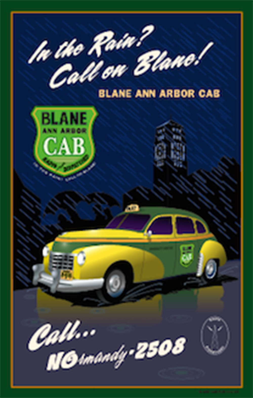 Blane Ann Arbor Cab Poster