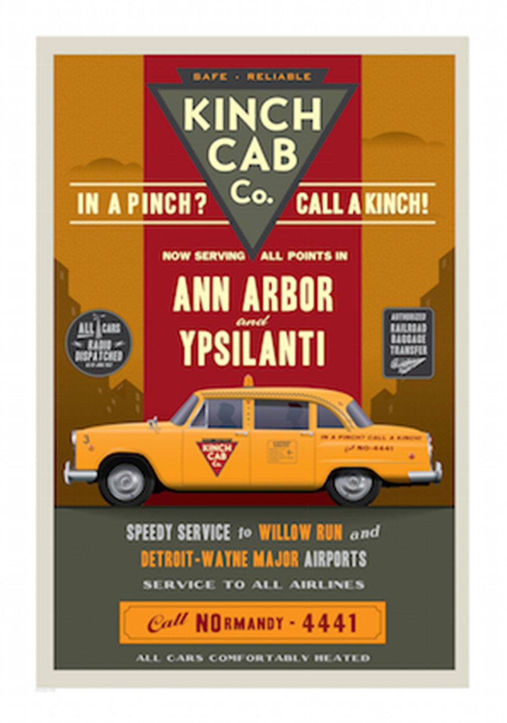 Kinch Cab - Ann Arbor Ypsilanti Poster