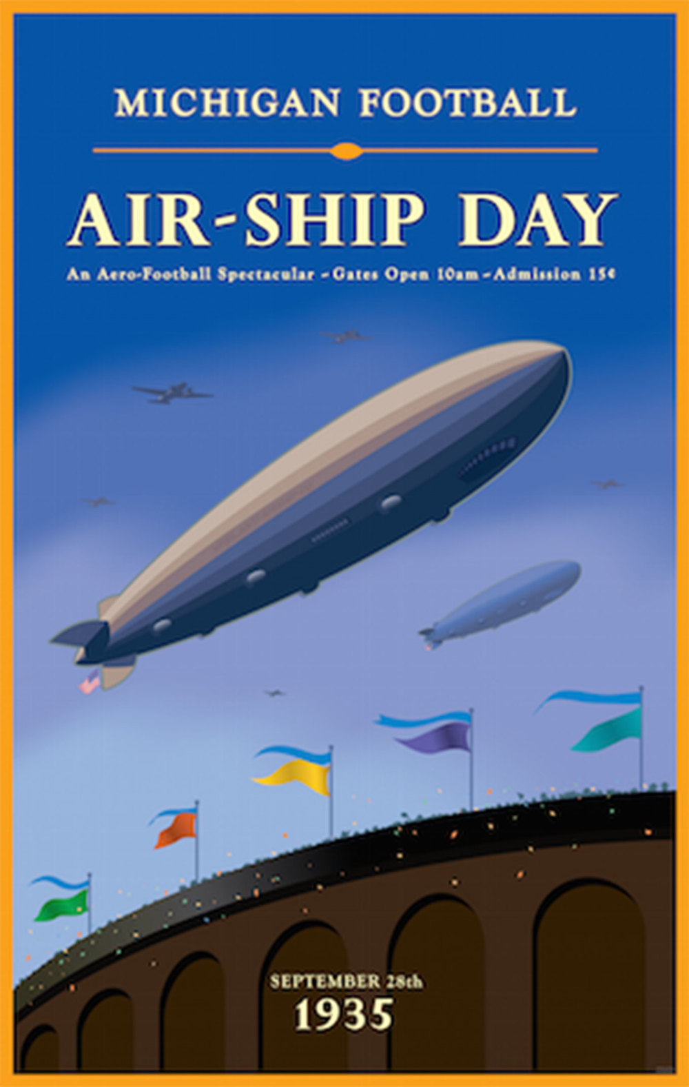 Michigan Football Airship Day Poster