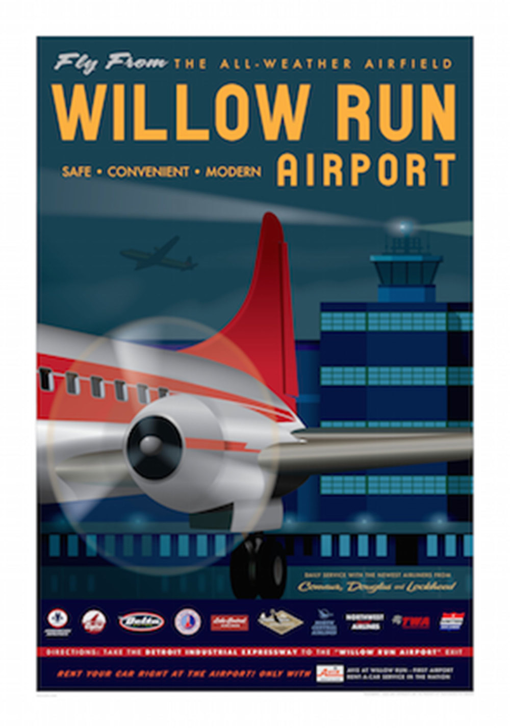 Willow Run Airport Poster