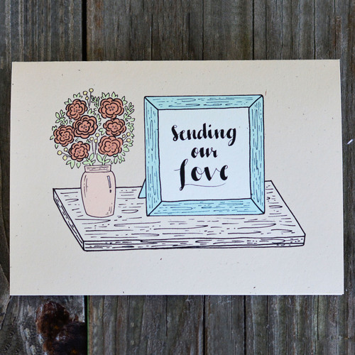 sending our love single greeting card - Send Greeting Cards