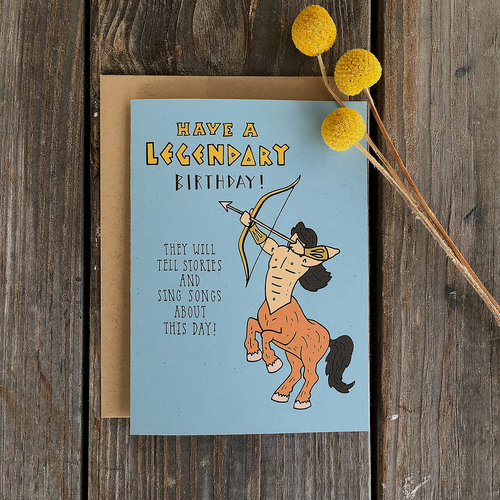 Champaign paper hand drawn greeting cards have a legendary birthday have a legendary birthday single greeting card m4hsunfo