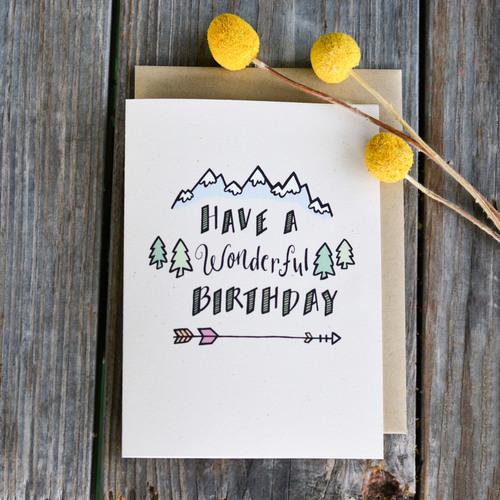 Champaign paper hand drawn greeting cards have a wonderful have a wonderful birthday single greeting card bookmarktalkfo Gallery