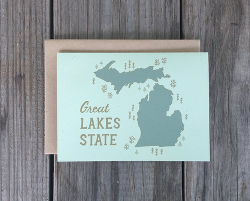 Champaign paper hand drawn greeting cards michigan card michigan card m4hsunfo