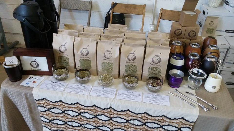 Yerba mate on display, photo courtesy of Yerba Vitality