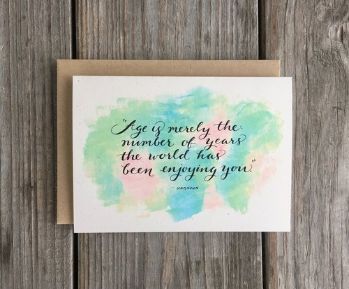 age quote birthday card