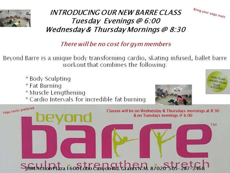 2db6a36ecba7 New Beyond Barre Classes!! — JHM Action Plaza