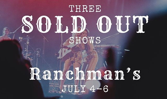All 3 shows at @ranchmanscalgary July 3, 4, and 5th are SOLD OUT. It's gonna be one hell of a party! #calgary #calgarymusic #yyc #countrymusic #countrysong #countryband #girlband #womenofcountry #rodeo #twostep #wholetthehorsesout #horsesofinstagram