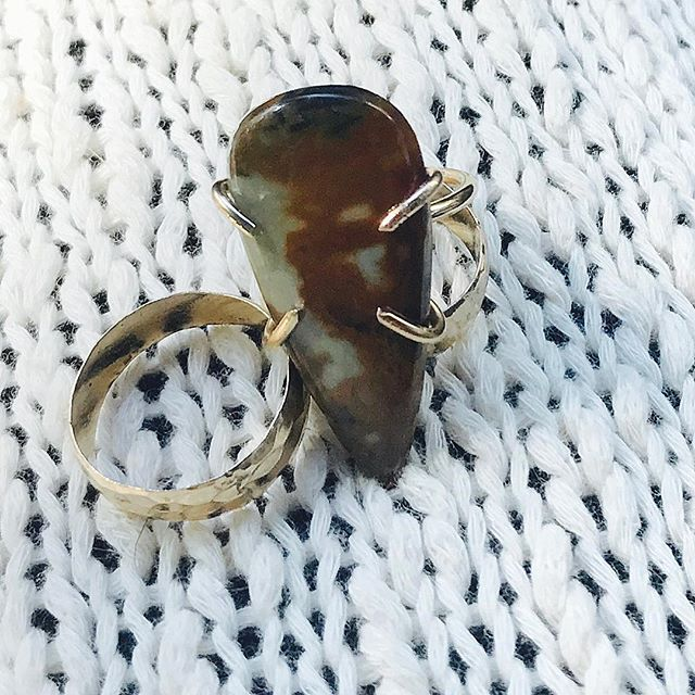Up close & personal this gorgeous Jasper Ring size 7