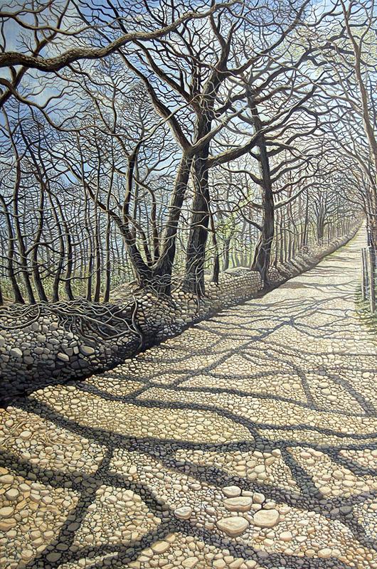 Spring Light - Golau 'r Gwanwyn  625mm x 905mm, acrylic - acrylig   Price -  Pris  £3,995