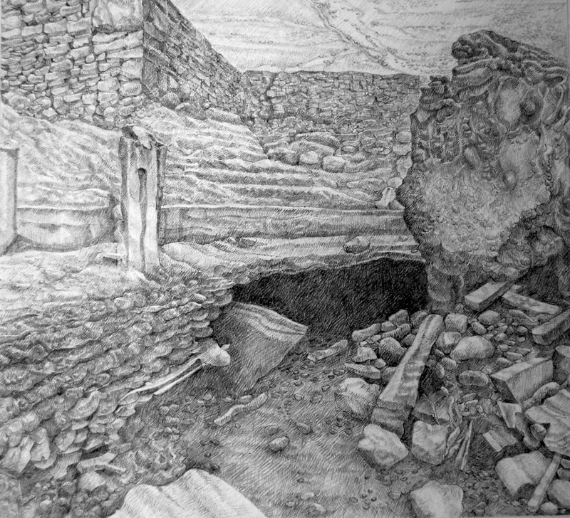 Hidden Place -  Cuddfan     230mm x 230mm, pencil -  pensil     Price -   Pris   £495