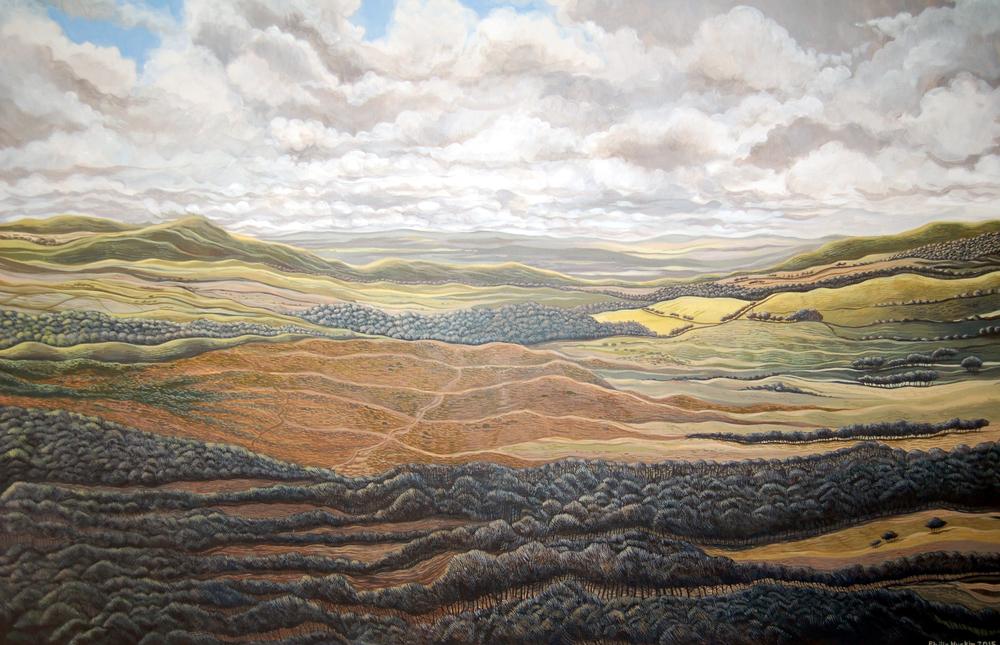 Journey -   Lawr Llwybr Gwlad  625mm x 905mm, acrylic - acrylig   Price -  Pris  £4,995