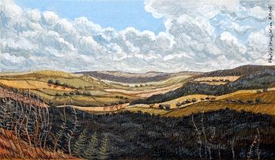 Valley - Dyffryn  120 mm x 70 mm, acrylic - acrylig    Price -  Pris  £395