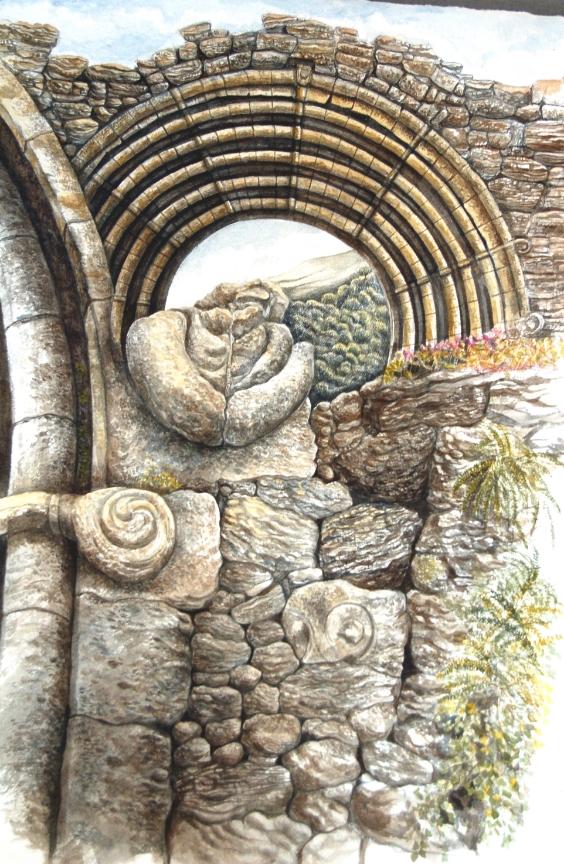 Portal - Porth   watercolour - dyfrlliw  (380 mm x 550 mm)    £1,950