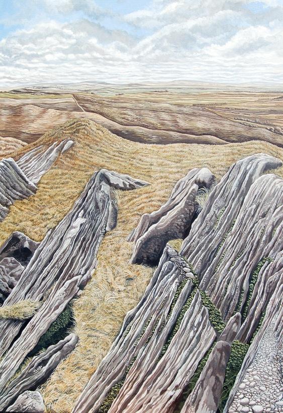 Little Mountain -  Mynydd Bach   (910mm x 1220mm)acrylic - acrylig  Price - Pris £9,950