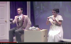 "Mr. Darby and Miss Bennett in ""Bride And Flatulence,"" 2010. Click on the photo to watch the whole play."