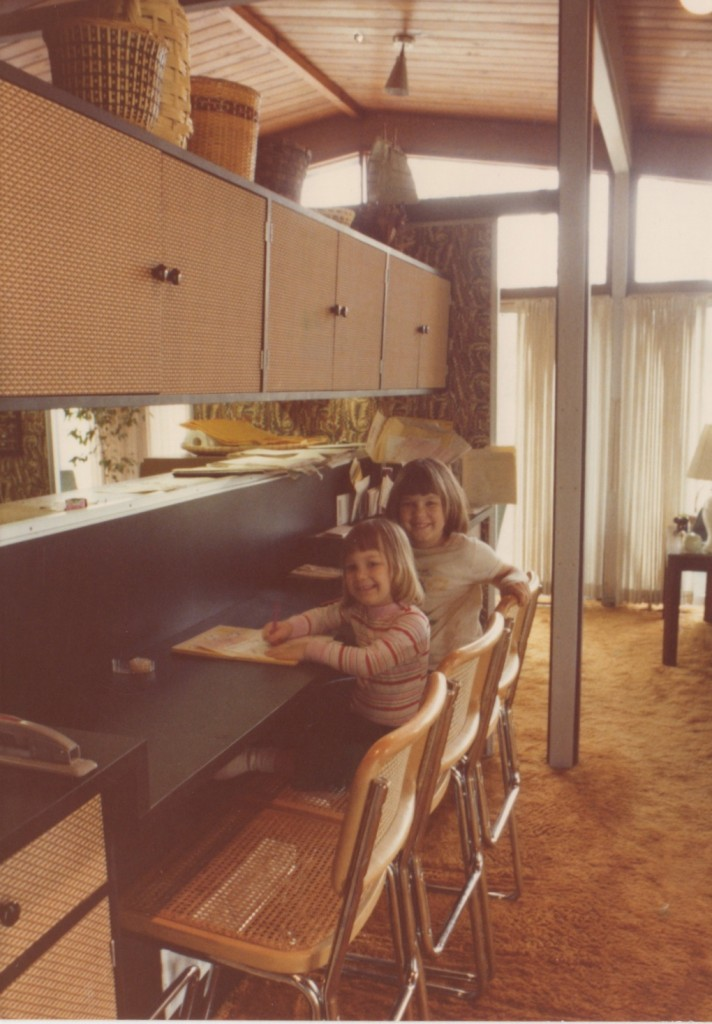 Liana and me in the updated breakfast bar area, @1979