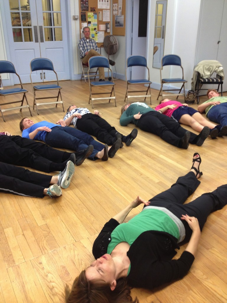 Breathing 101 with members of a church choir in Hartford, CT (April 2013)