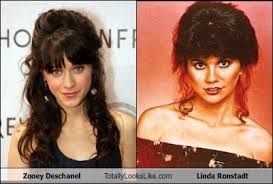 Dorky/adorkable Zooey Deschanel, often compared with Linda Ronstadt. (www.cheezburger.com)