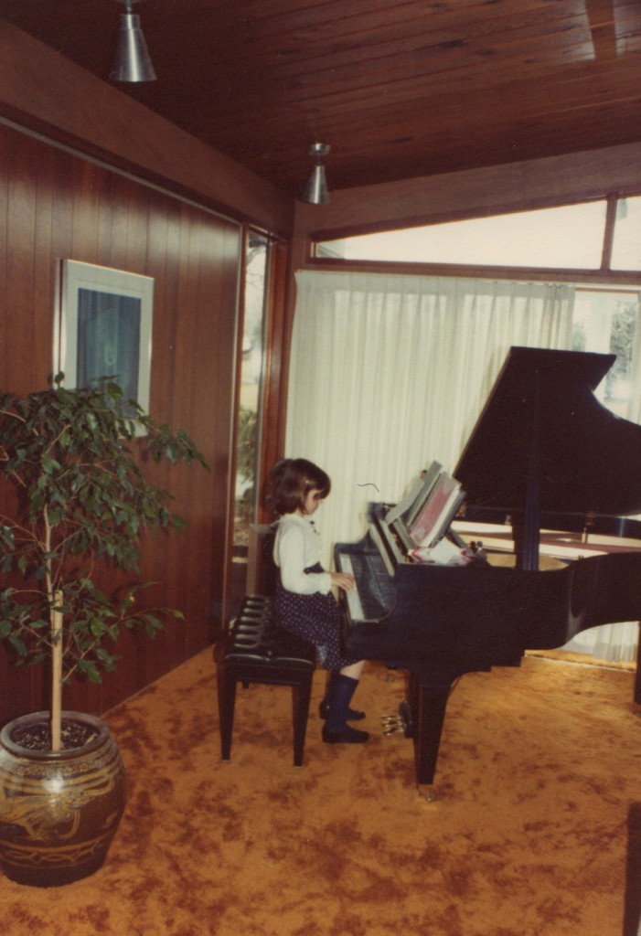 Eden Casteel at the ivories, 1979