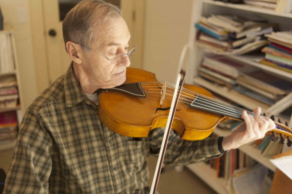 Dr. Joe Ceo with his viola d'amore