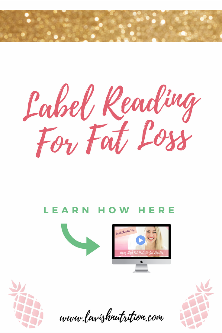 label reading for fat loss