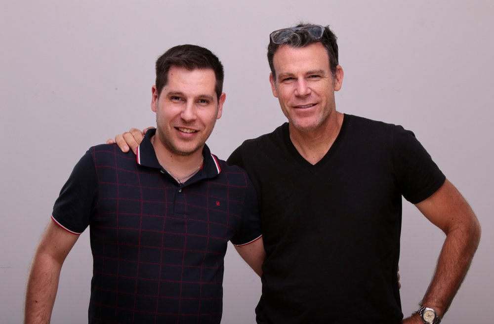 Peter Hurley and Studio Manager Emanuel Pires share a photo together.