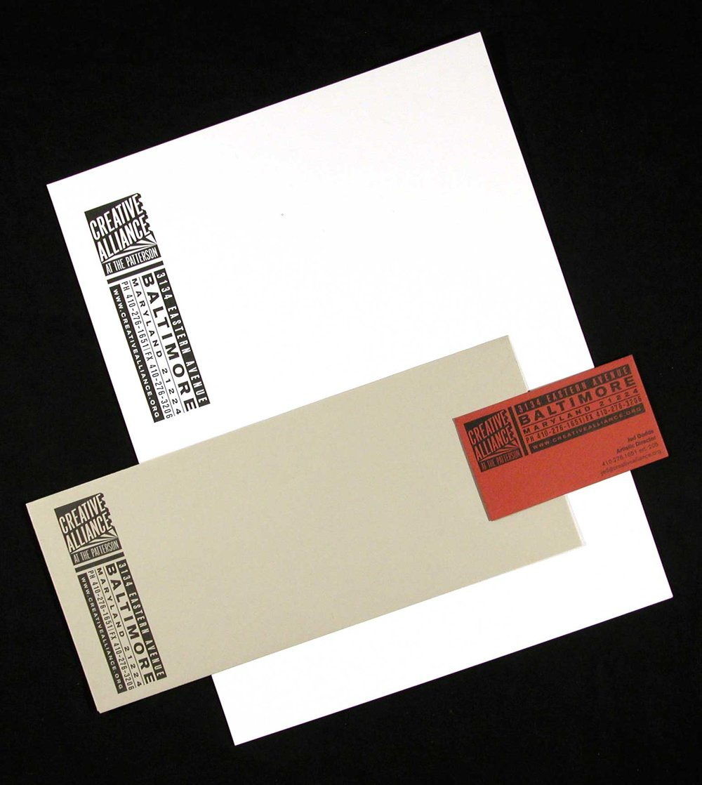 Letterhead and print identity